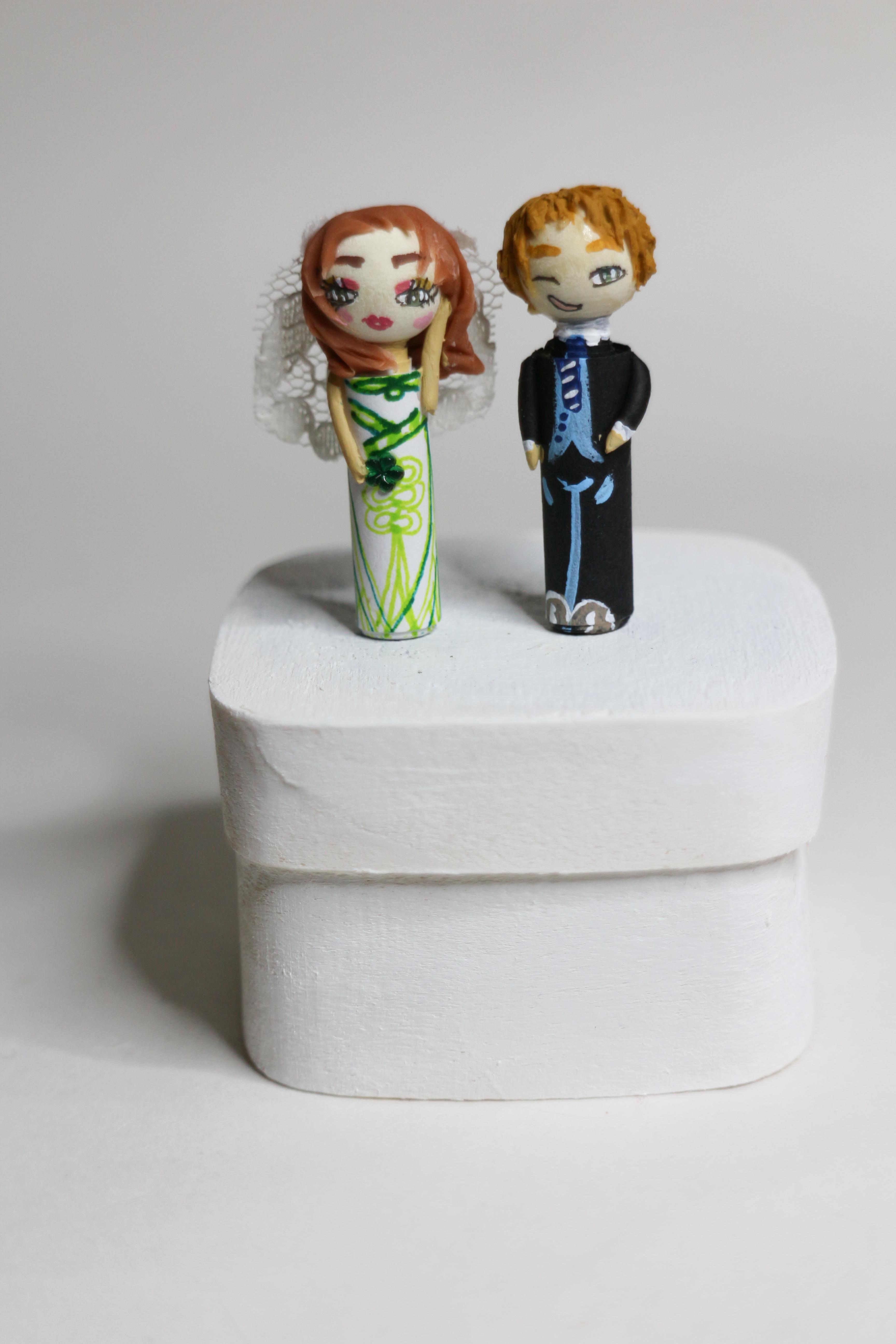 Figurines fantaisie pour personnages mariés