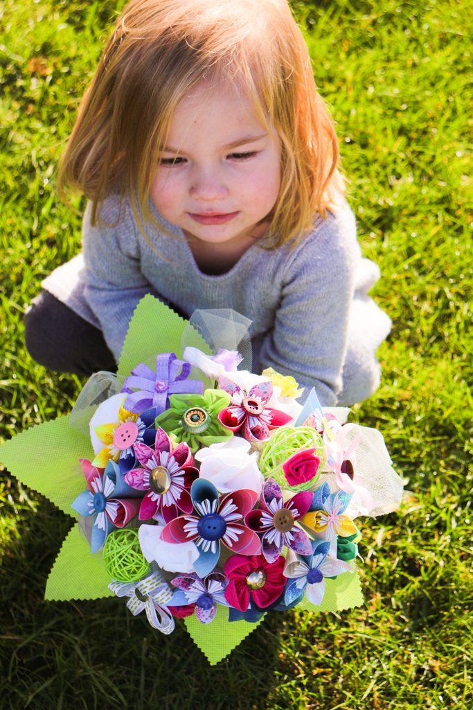 Bouquets Mariage papier et tissu