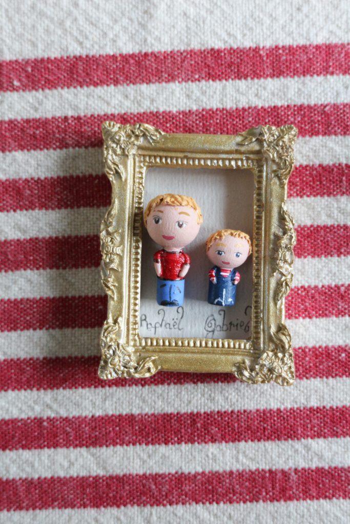 Portrait miniature cadre aimant