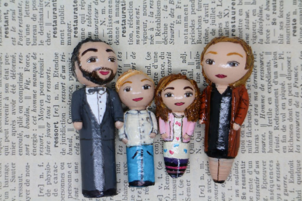 Portrait famille 4 figurines