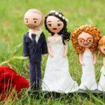 poupées portrait de mariage