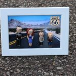poupées portrait famille en cadre